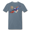 Image of My America Men's T-Shirt - steel blue