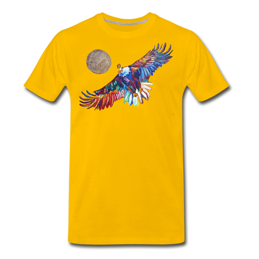 My America Men's T-Shirt - sun yellow