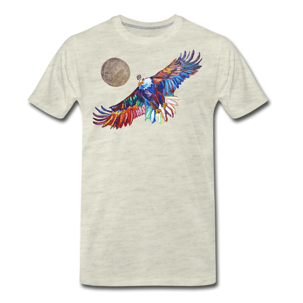 My America Men's T-Shirt - heather oatmeal