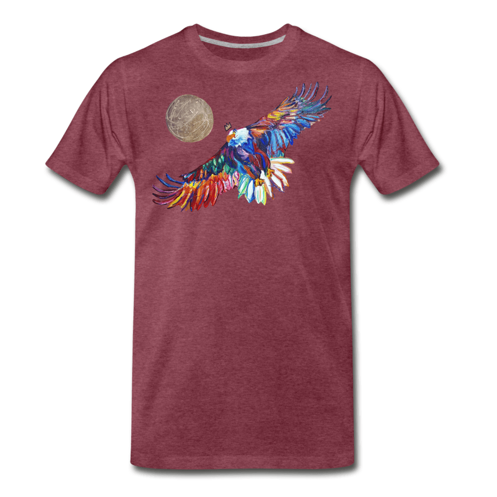 My America Men's T-Shirt - heather burgundy