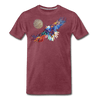Image of My America Men's T-Shirt - heather burgundy