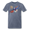 Image of My America Men's T-Shirt - heather blue