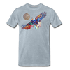 Image of My America Men's T-Shirt - heather ice blue