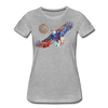 Image of My America Women's T-Shirt - heather gray