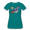 Image of My America Women's T-Shirt - teal