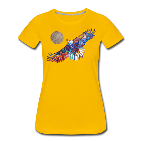 My America Women's T-Shirt - sun yellow