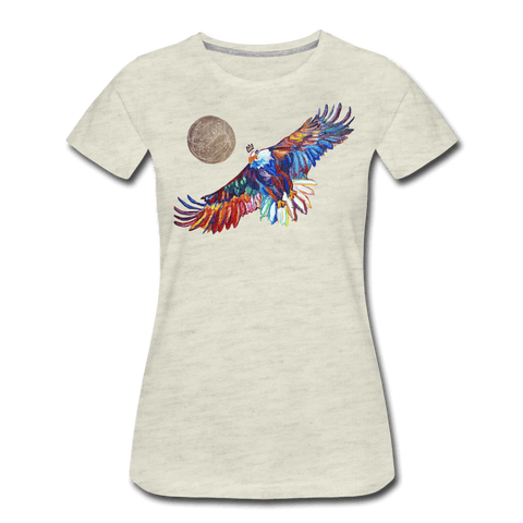 My America Women's T-Shirt - heather oatmeal