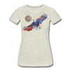 Image of My America Women's T-Shirt - heather oatmeal