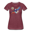 Image of My America Women's T-Shirt - heather burgundy