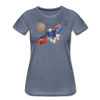 Image of My America Women's T-Shirt - heather blue