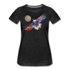 Image of My America Women's T-Shirt - charcoal gray