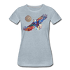 Image of My America Women's T-Shirt - heather ice blue