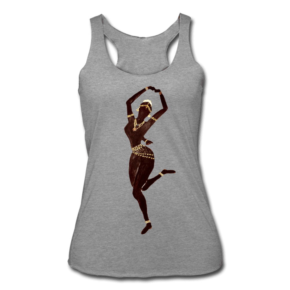 Temple Dancer Racerback Tank - heather gray