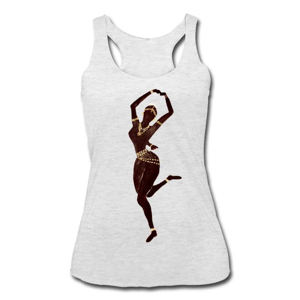 Temple Dancer Racerback Tank - heather white