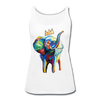 Image of Elephant X Crown Women's Tank Top - white