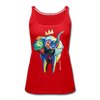 Image of Elephant X Crown Women's Tank Top - red