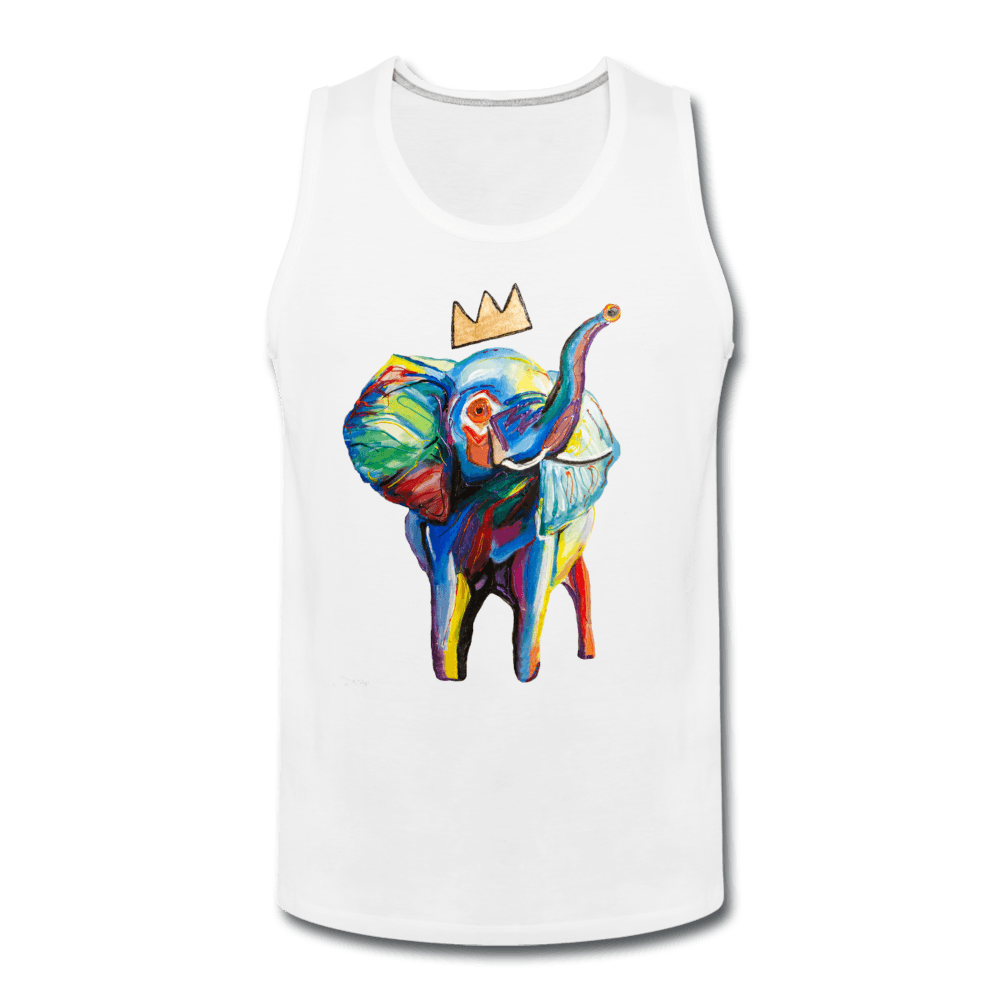 Crown X Elephant Men's Tank - white