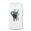 Image of Crown X Elephant Men's Tank - white