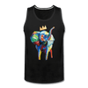 Image of Crown X Elephant Men's Tank - black