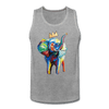 Image of Crown X Elephant Men's Tank - heather gray