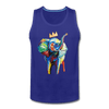 Image of Crown X Elephant Men's Tank - royal blue