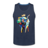Image of Crown X Elephant Men's Tank - navy