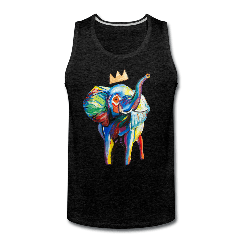 Crown X Elephant Men's Tank - charcoal gray