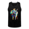 Image of Crown X Elephant Men's Tank - charcoal gray