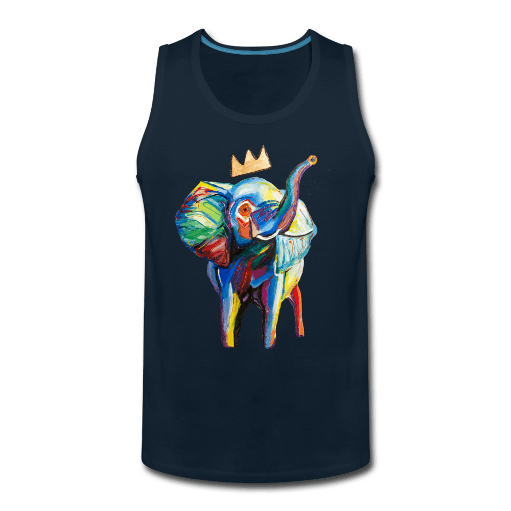 Crown X Elephant Men's Tank - deep navy