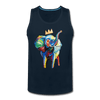 Image of Crown X Elephant Men's Tank - deep navy