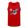Image of My America Men's Tank - red