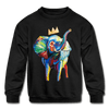 Image of Elephant X Crown Kids Sweatshirt - black