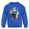 Image of Elephant X Crown Kids Sweatshirt - royal blue