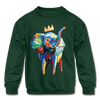 Image of Elephant X Crown Kids Sweatshirt - forest green