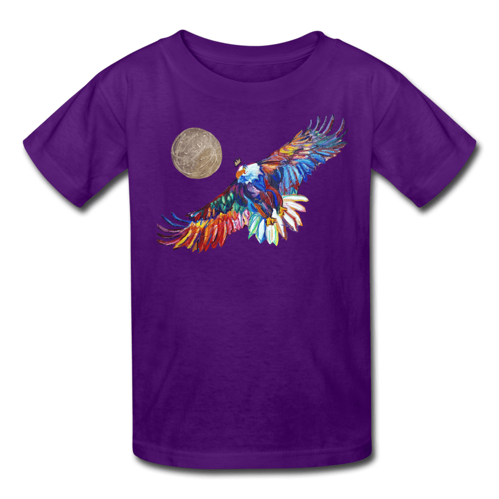 My America Kids' T-Shirt - purple