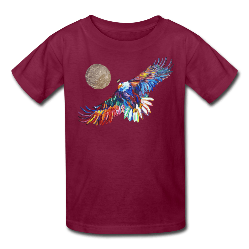 My America Kids' T-Shirt - burgundy