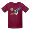 Image of My America Kids' T-Shirt - burgundy