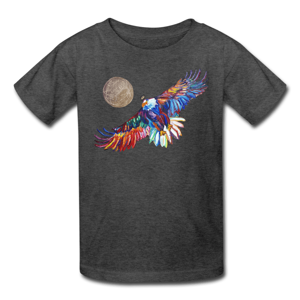 My America Kids' T-Shirt - heather black