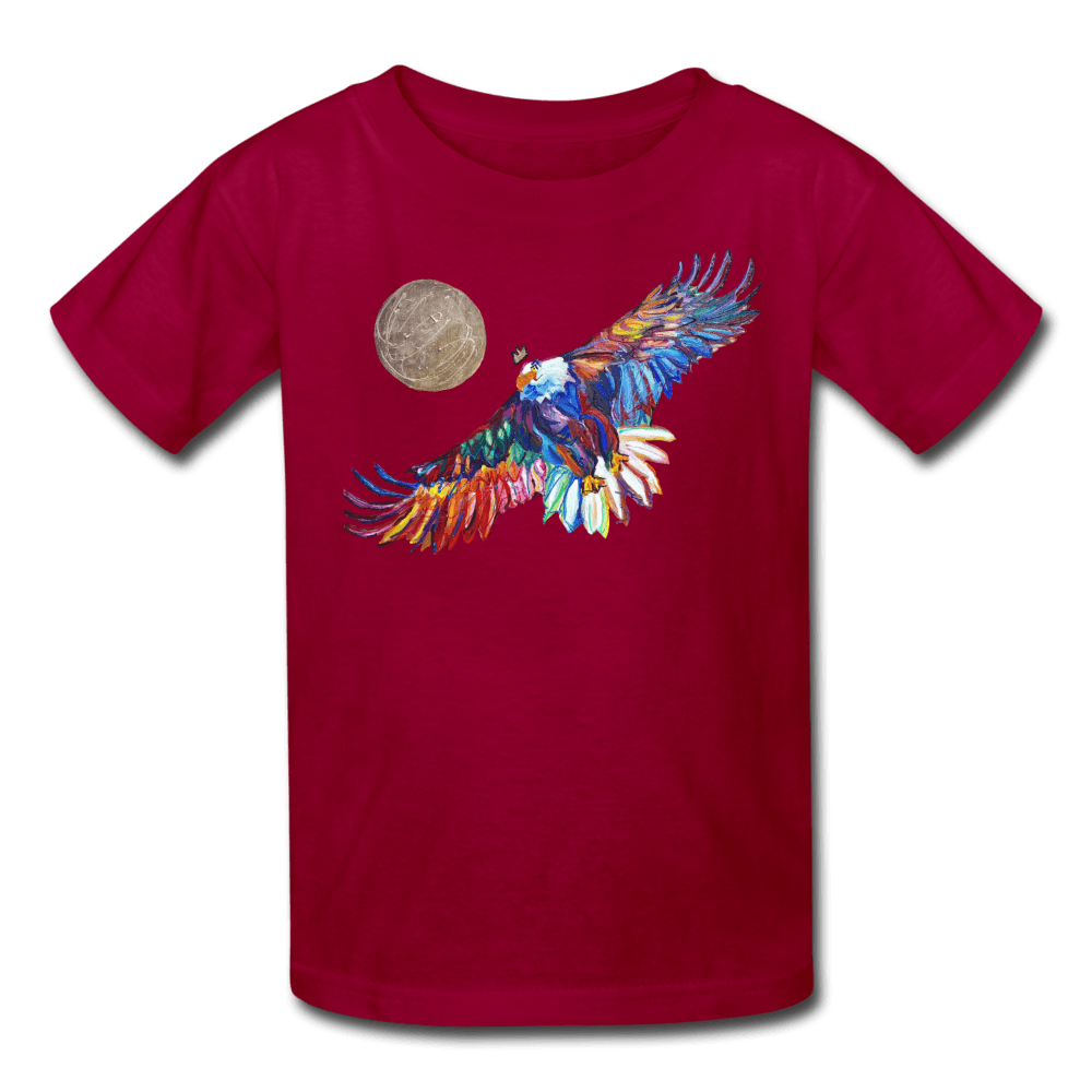 My America Kids' T-Shirt - dark red