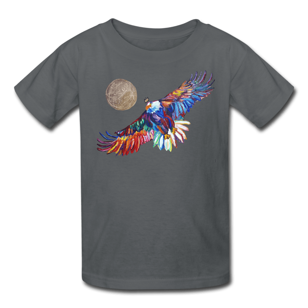 My America Kids' T-Shirt - charcoal