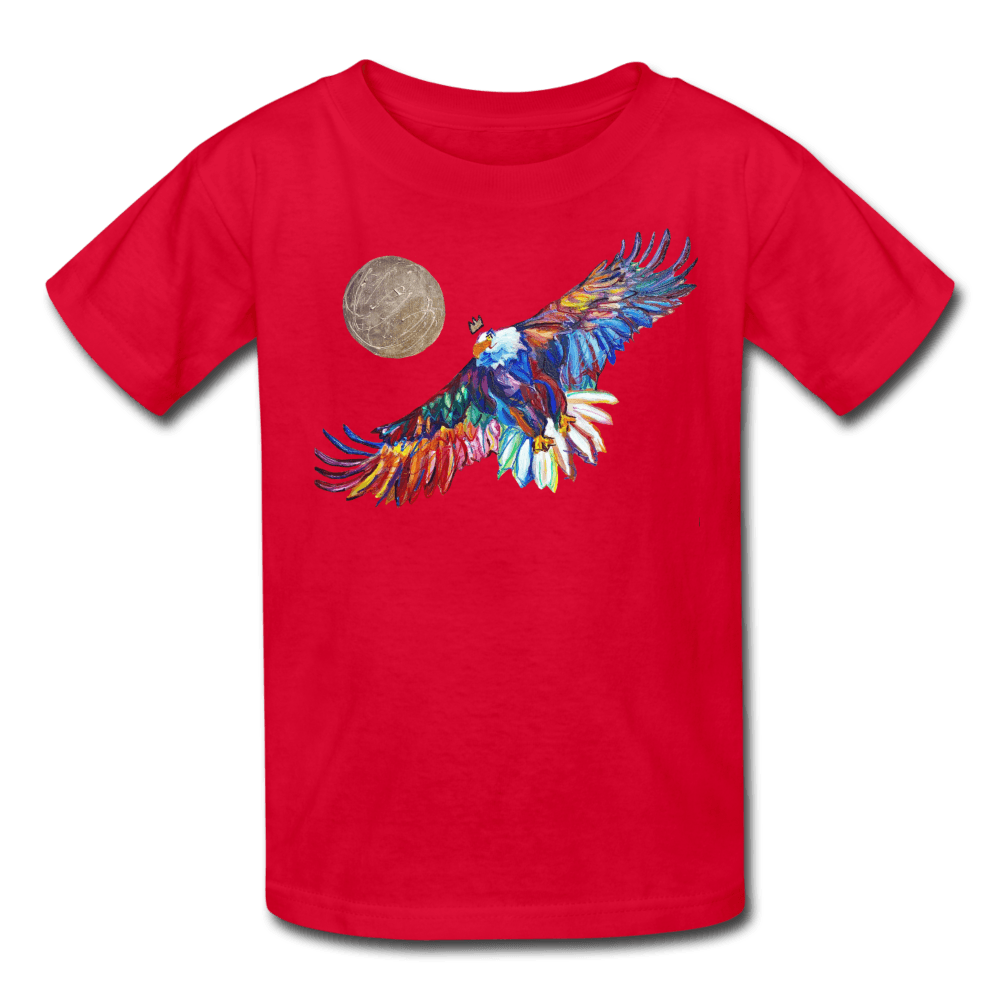 My America Kids' T-Shirt - red