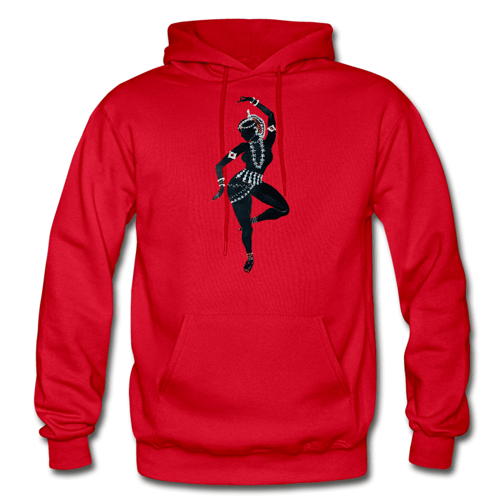 Odissi Dance Unisex Hoodie - red