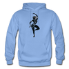 Image of Odissi Dance Unisex Hoodie - carolina blue