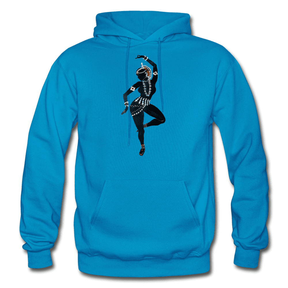 Odissi Dance Unisex Hoodie - turquoise