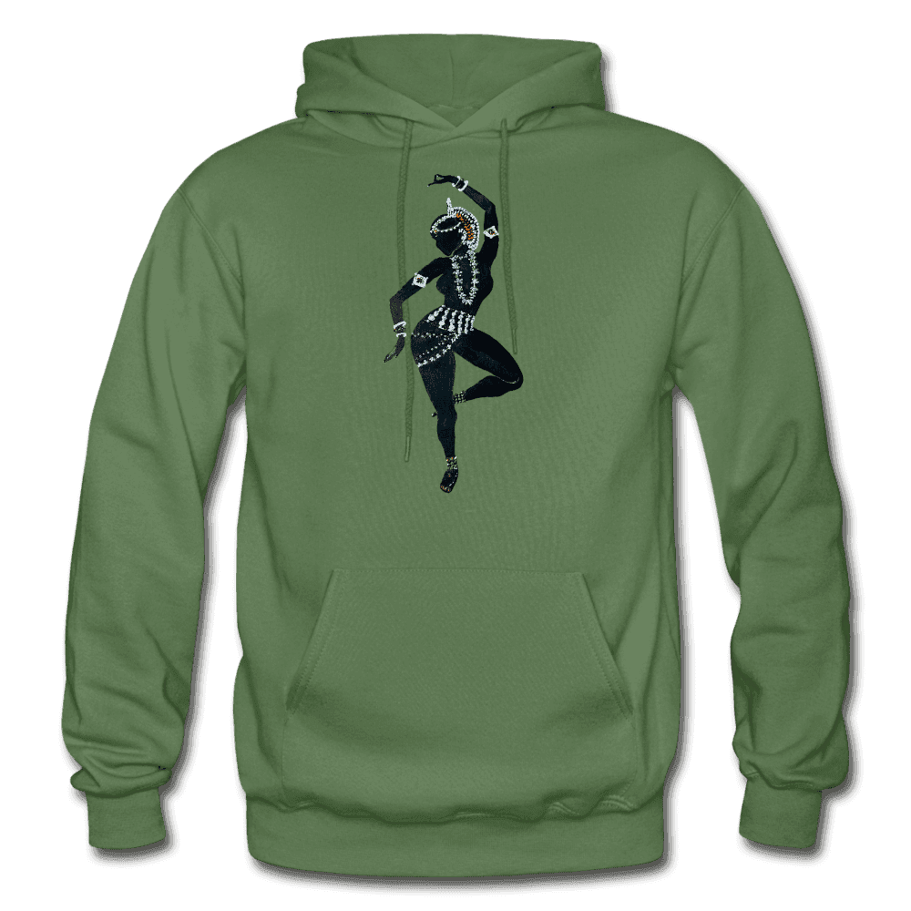 Odissi Dance Unisex Hoodie - military green