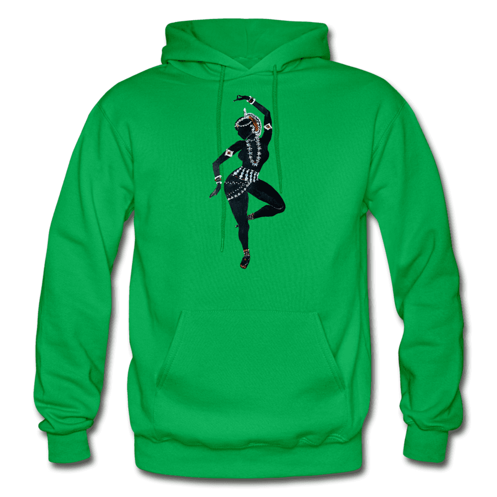 Odissi Dance Unisex Hoodie - kelly green