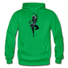 Image of Odissi Dance Unisex Hoodie - kelly green