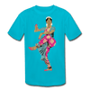 Image of Kids' Moisture Wicking Performance T-Shirt - turquoise