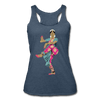 Image of Bharatanatyam Dancer Racerback Tank - heather navy