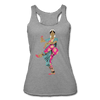 Image of Bharatanatyam Dancer Racerback Tank - heather gray